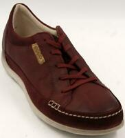 Ecco Cayla Lace Up Burgundy Women's Walking Comfort Shoes Sz 39/8-8.5 M Shoes