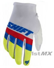 Shift WHIT3 Label Air Motocross MX Off Road Race Gloves White Adults XLarge