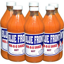 Blue Front BBQ Barbecue Sauce 6 PACK HOT 16oz. bottles
