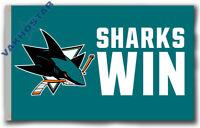 San Jose Sharks SHARKS WIN Souvenirs flag 90x150cm3x5ft best banner