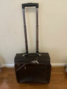 MONTBLANC 2 Wheels Brown Laptop Trolley - Used / Good Condition