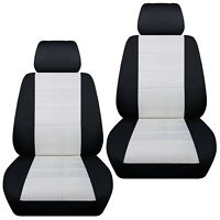 Fits 2011-2018 Kia Optima  front set car seat covers    black and white
