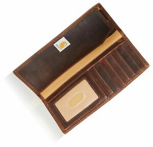Carhartt Men's Oil Tan Rodeo Wallet - Genuine Leather Brown w/Gift Box One Size