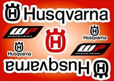Husqvarna Motorcycle Decals Stickers Graphic Set Vinyl logo Adhesive Blue 7 Pcs