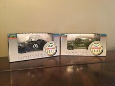 2- LIBERTY CLASSICS BANKS -1937 Vehicles-  US Army Staff Car/US Army Ambulance