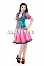 Fairytale Fantastic Ruffle Dress Maid Rubber Latex Dress Colorful Dress
