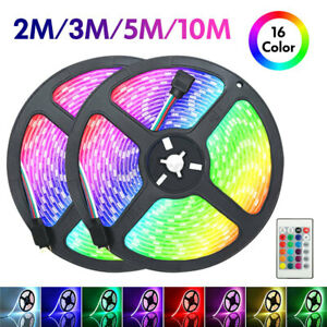2/3/5/10M LED Strip Light 5050 SMD RGB 60Leds/m Waterproof Remote  Controller 12