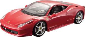 1:24 Ferrari 458 Italia Racing Car Diecast Model Vehicle Toy Red