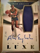 * HOFer Alex English 2014-15 Luxe M-AE Patch On-Card Auto /49 *