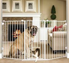 New listing Carlson 38'' Extra Tall Dog Gate & Small Pet Door Baby Safety Gate White 1510Hpw