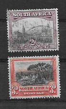 SOUTH AFRICA , 1927/28 , GNU , SET OF 2 STAMPS., PERF , USED