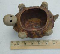 Vintage Hanging Pottery Stoneware Upside Down Turtle Planter Plant Pot