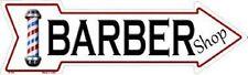 BARBER SHOP METAL NOVELTY DIRECTIONAL ARROW SIGN