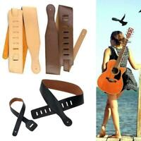 Adjustable Guitar Strap Belt Thick For Electric Acoustic Bass Leather K2S5