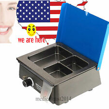 USA FDA Dental Lab Wax Heater Pot 3-Well POT Analog Melter Dipping Melting