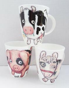 Roy Kirkham, Fine Bone China, Cow, Donkey or Pig, Coffee / Tea Mug - New