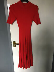 H&M Red Knit Dress Size XS