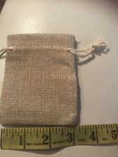 burlap gift bags 3x4 (20 Pieces)