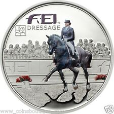 Dressage FEI Horse silver coin 2013 Andorra 5 Dinners