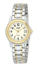 Ladies Citizen Quartz Gold Silver Stainless Numbers Watch With Date EU1974-57A