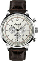 Ingersoll IN2809WH San Antonio Chronograph Automatic Men's Leather Strap Watch