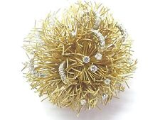18Kt Diamond Yellow Gold Circular Pin/Brooch 1.50CT