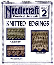 Needlecraft Practical Journal #60 c.1907 Vintage Knitting Patterns Fancy Edges