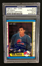 JOE SAKIC SIGNED O-PEE-CHEE QUEBEC NORDIQUES ROOKIE CARD #113 PSA/DNA Auto RC