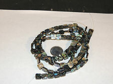 Abalone Square Face Bead Gemstones 10x10mm (4228)