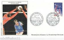 1986**ENVELOPPE ILLUSTREE*FDC 1°JOUR!!**CHAMPIONNAT-VOLLEY-BALL**TIMBRE Y/T 2420