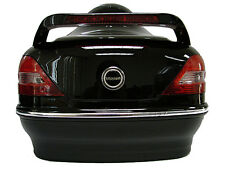 Gloss Black Motorcycle Cruiser Scooter Hard Trunk Top Case W/Mount +Tail Lights