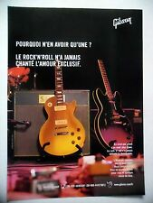 PUBLICITE-ADVERTISING :  Guitares GIBSON  08/2006