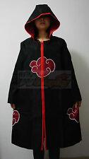 Akatsuki Itachi Uchiha Cosplay Cloak with Cap Custom Made