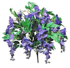 """Purple Wisteria 14 Stems 24"""" Tall Bush Natural Looking Artificial Flowers Decors"""