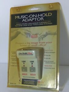 On-Hold Plus MOH 150 Adaptors for 1 & 2 Line Phones New