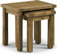 Wood Veneer Country Nested Tables 2 Pieces