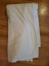 """Restoration Hardware White Bed Skirt 15"""" Drop Queen 66"""" x 78"""""""