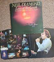 Neil Diamond – Love At The Greek – CBS 95001 – 2-LP Vinyl Record FREE P&P