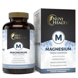 240 Kapseln Magnesium Komplex 2250mg / 375mg  - Bisglycinat + Citrat + Malat (V)