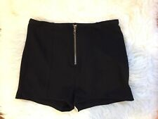 Out From Under Urban Outfitters Zipper Black Stretch Booty Shorts Size S P