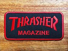 THRASHER MAGAZINE Iron on / Sew on Skateboard Patch - Block Logo Red New