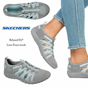 Skechers Womens Reggae Fest Hooked Relaxed Fit Trainers Slip On Cushioned Shoes