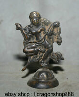 8CM Vieux Tibet Bronze Peinture Temple Vajravarahi Dorje Phakmo Déesse
