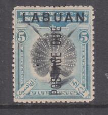 LABUAN, Postage Due, 1901 5c. Black & Blue, perf. 13 1/2-14, heavy hinged mint.
