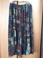 WE BE BOP 3X Fun Arsty Skirt (Patchwork Print) 100% Rayon