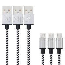 CABLE CHARGEUR POUR SAMSUNG GALAXY S7 S6 S4 S3 USB METAL RENFORCÉ BLANC 1M 2M 3M