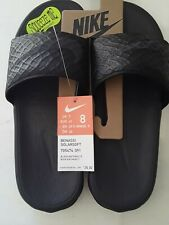 * Nike Men's Benassi Solarsoft Size 8 Slides Black Anthracite 705474-091 Sandals