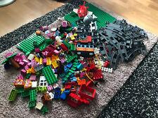 Lego Duplo Konvolut / Sammlung mit Eisenbahn & Bauplatten