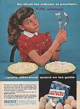 PUBLICITE LUSTUCRU PER LUSTUCRU PATES AUX OEUFS FRAIS DE 1959 FRENCH AD PUB