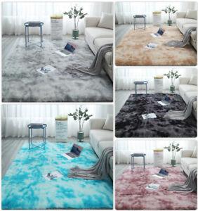 Fluffy Faux Fur Rugs Non Slip Large Living Room Floor Carpet Rug Mat Plush Soft